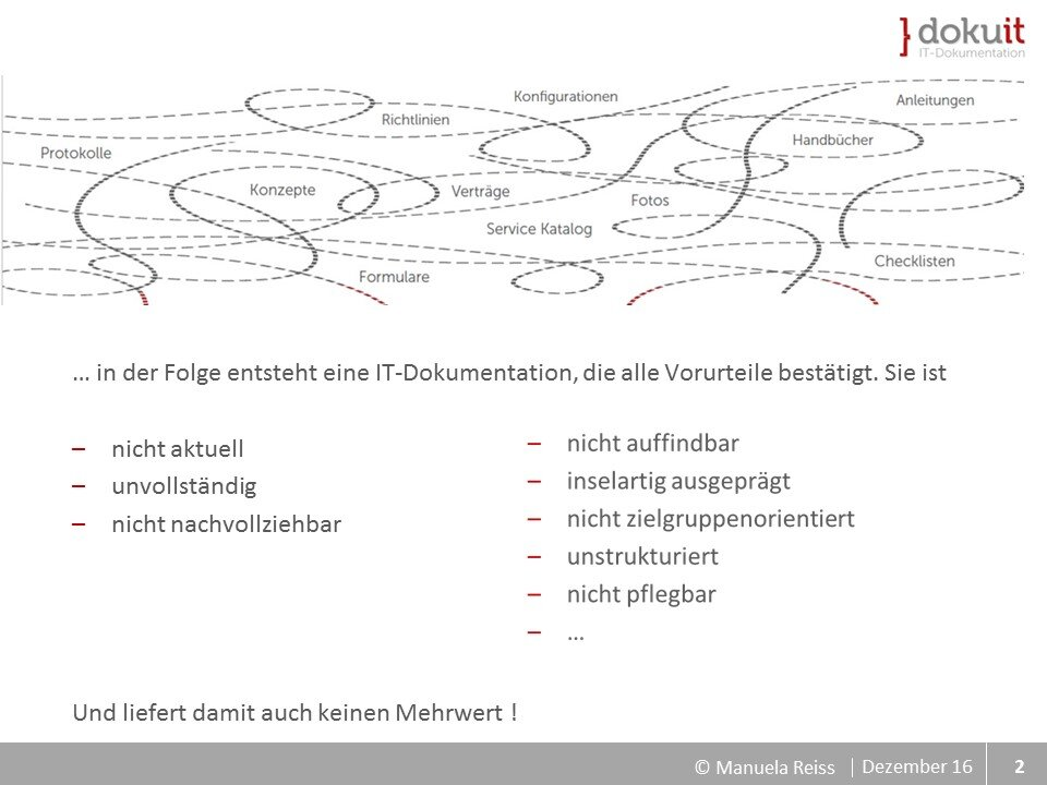 Folie mit Grafik Chaos Dokumentationmanagement