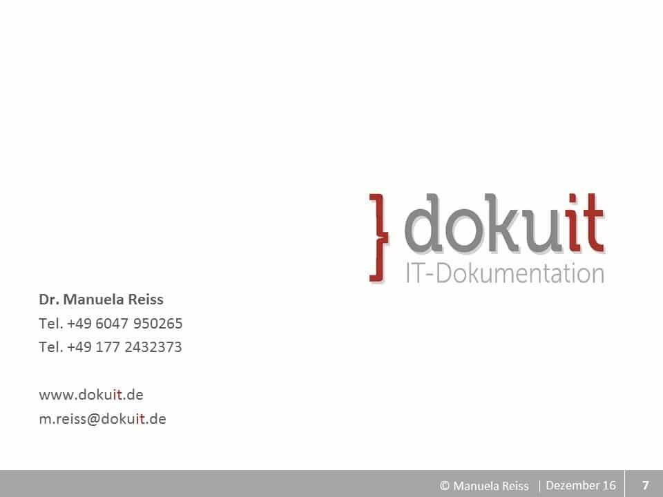 Folio Logo und Kontakt dokuit