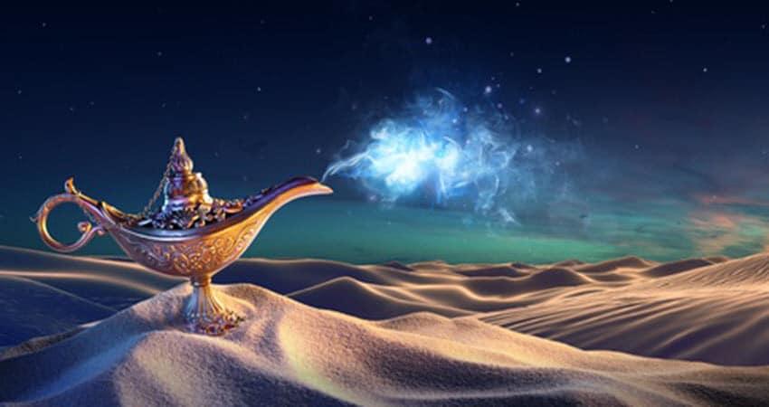 Wunderlampe in der Wüste