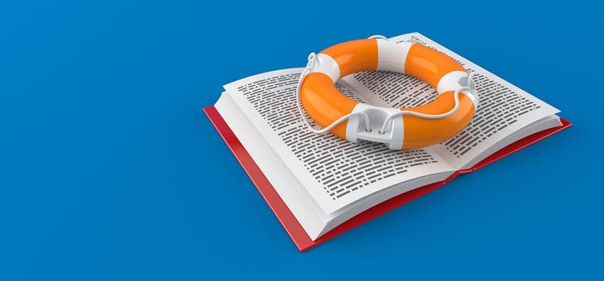 Notfallhandbuch - Handbuch mit Rettungsring